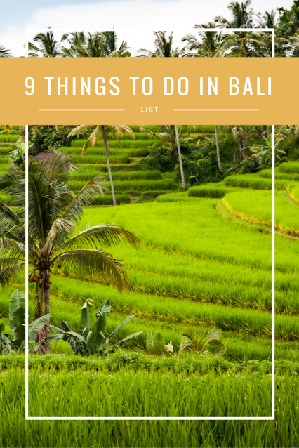 9 Things to Do in Bali