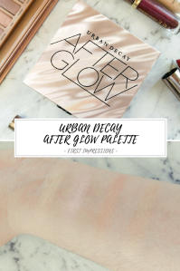 Urban Decay After Glow Palette Review