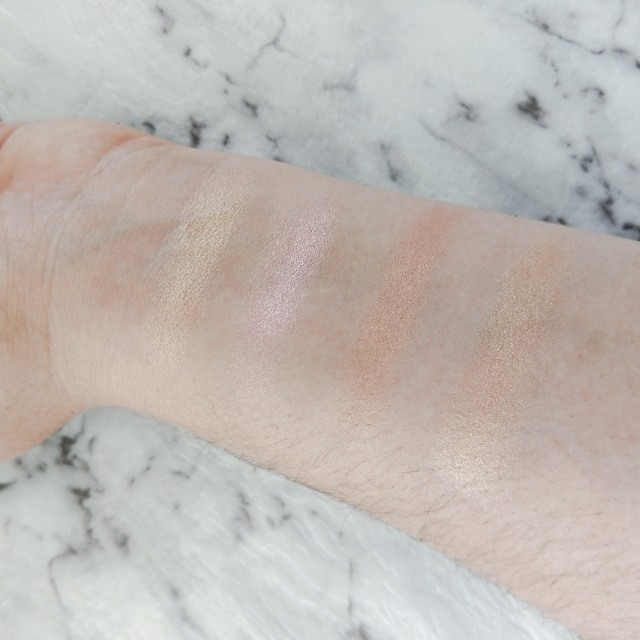 Urban Decay After Glow Pallet Swatches